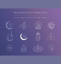 gemstones logo designs and templates collection vector image