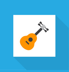 guitar icon flat symbol premium quality isolated vector image