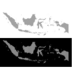 Halftone indonesia map vector