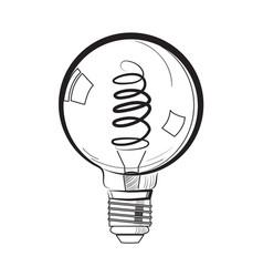 Incandescent light bulb sketch vector