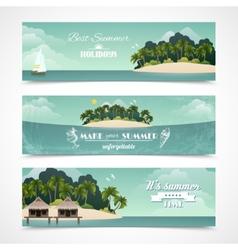 Island horizontal banners vector image