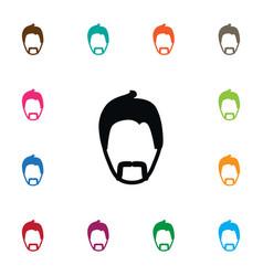 isolated moustache icon modern gentleman vector image