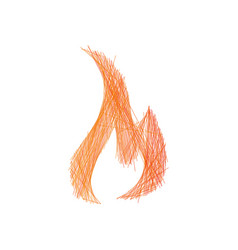 linear hand drawn fire flame campfire editable vector image