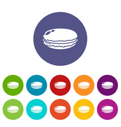 macaroons icon simple black style vector image