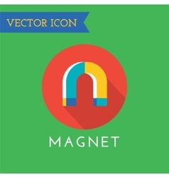 Magnet Icons Set Shop money or commerce vector