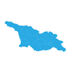 map of georgia south ossetia high detailed map vector image