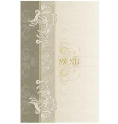 menu beige1 vector image