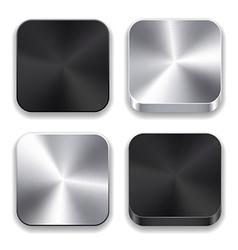 Metallic app icons vector