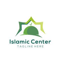 Modern mosque islamic center logo and icon design vector