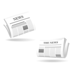 Newspaper realistic icons vector