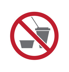 No food allowed sign on white background for vector