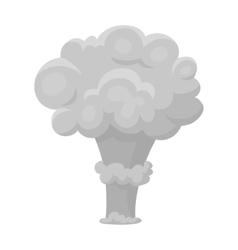 Nuclear explosion icon in monochrome style vector