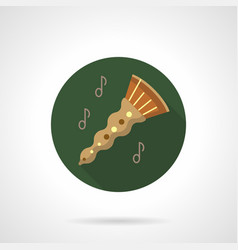 oboe melody flat color round icon vector image