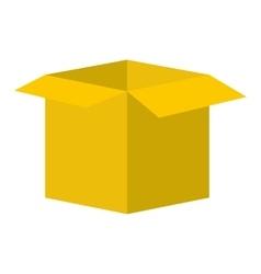 Open empty cardboard icon vector image