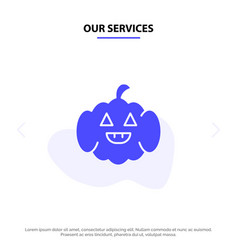 Our services pumpkin american usa solid glyph vector