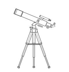 Outline refracting telescope vector
