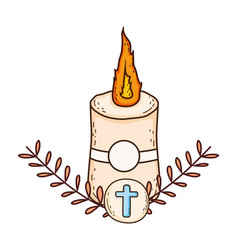 Paschal candle sacred icon vector