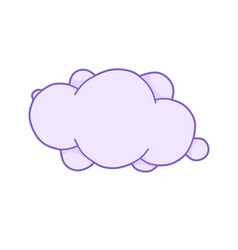pink unicorn cloud with space for text cute vector image