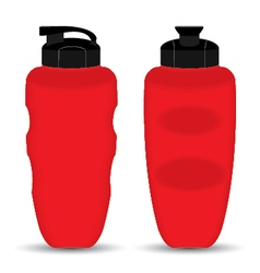 Red Sport Mugs set of Front and Side view isolated vector image