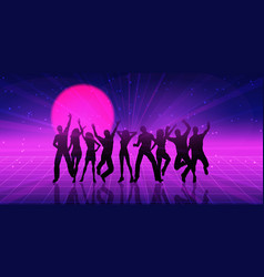 retro themed party people banner design vector image