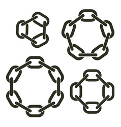round chains vector image