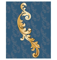 Royal golden ornament vector