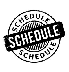Schedule rubber stamp vector