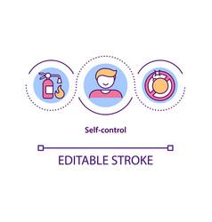self control concept icon vector image