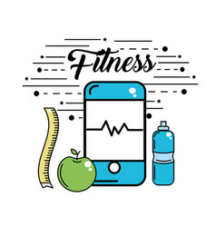Smartphone to fitness use and healthy life vector