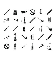 Smoking icon set simple style vector