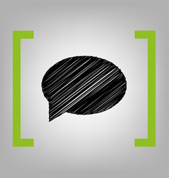 speech bubble icon black scribble icon in vector image