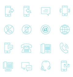 Thin lines icon set - communication vector