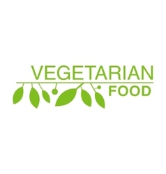 Vegan natural food green logo design template with vector