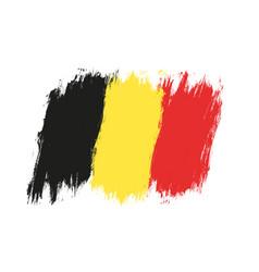 vintage belgium flag vector image