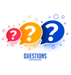 Web questions help and support page design vector