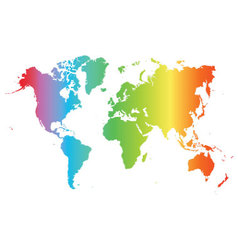 World map colored vector