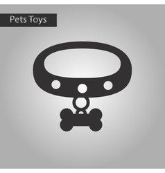 black and white style icon dog collar vector image