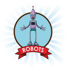 Robots technology engineering banner vector