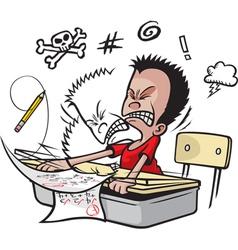 schoolboy bang head vector image