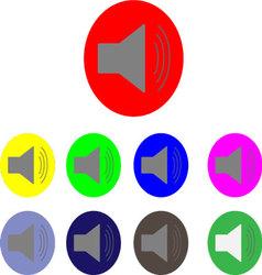 Sound logo set vector image vector image
