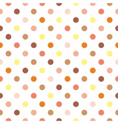 Tile polka dots on white background vector image