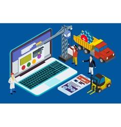Website development experienced team vector image vector image
