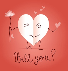 Will you be my valentine vector image vector image