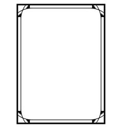 Art Deco black ornamental decorative frame vector image vector image