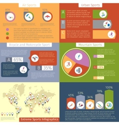 Extreme sport infographic vector image vector image