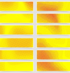 Polka dot pop-art retro style mega header set vector image vector image