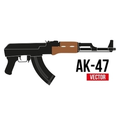 Russian rifle AK47 vector image vector image