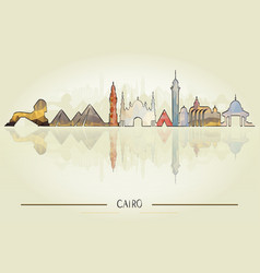 travel and tourism concept cairo architecture vector image vector image