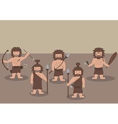 cavemen warrior flat graphic vector image