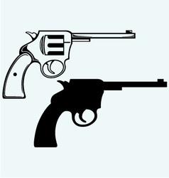Old pistol vector image